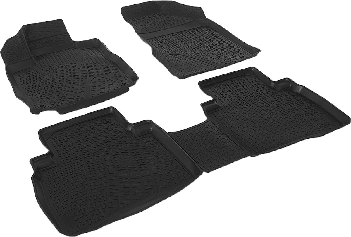 Коврики в салон автомобиля L.Locker, для Nissan Murano II (Z51) (08-), 4 шт0205140101Коврики L.Locker производятся индивидуально для каждой модели автомобиля из современного и экологически чистого материала. Изделия точно повторяют геометрию пола автомобиля, имеют высокий борт, обладают повышенной износоустойчивостью, антискользящими свойствами, лишены резкого запаха и сохраняют свои потребительские свойства в широком диапазоне температур (от -50°С до +80°С). Рисунок ковриков специально спроектирован для уменьшения скольжения ног водителя и имеет достаточную глубину, препятствующую свободному перемещению жидкости и грязи на поверхности. Одновременно с этим рисунок не создает дискомфорта при вождении автомобиля. Водительский ковер с предустановленными креплениями фиксируется на штатные места в полу салона автомобиля. Новая технология системы креплений герметична, не дает влаге и грязи проникать внутрь через крепеж на обшивку пола.