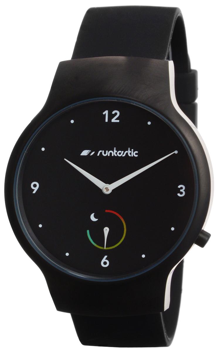 Часы наручные Runtastic Moment Basic, спортивные, цвет: черный. RNT_RUNMOBA1RNT_RUNMOBA1Спортивные часы Runtastic Moment Basic выполнены из нержавеющей стали, пластика, силикона и минерального стекла. Модель Runtastic Moment Basic представляет собой стильные наручные часы с круглым аналоговым циферблатом. Многофункциональные спортивные часы оснащены функцией Bluetooth Smart, которая позволит синхронизировать часы с самртфоном. Корпус часов имеет степень водонепроницаемости 100м и дополнен устойчивым к царапинам минеральным стеклом. Ремешок часов выполнен из силикона, а также оснащен практичной пряжкой, которая позволит с легкостью снимать и надевать изделие. Комплект поставки включает: часы, элемент питания, инструмент для замены элемента питания, 4 дополнительных винта. Изделие поставляется в фирменной упаковке. Гаджет идеально подходит для активного образа жизни. Высокое качество, свежий дизайн и инновационные технологии позволяют достигать поставленных целей, контролировать ежедневный прогресс. Совместимость с iPhone 4s и более новыми...