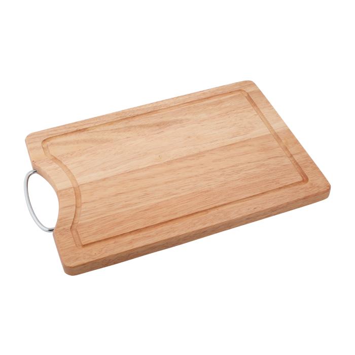 Доска разделочная, 34 х 24 х 1,8 см. 28AR-100328AR-1003Прямоугольная разделочная доска из дерева с металлической ручкой обладает рядом преимуществ, которые можно оценить уже при первом использовании. Доска отличается долговечностью, большой прочностью и высокой плотностью, легко моется, не впитывает запахи и обладает водоотталкивающими свойствами, при длительном использовании не деформируется. Разделочная доска выполнена на высоком уровне, она удовлетворит все запросы самой требовательной хозяйки! Рекомендации: очищать сразу после использования; просушивать после мытья; не использовать при высокой температуре.