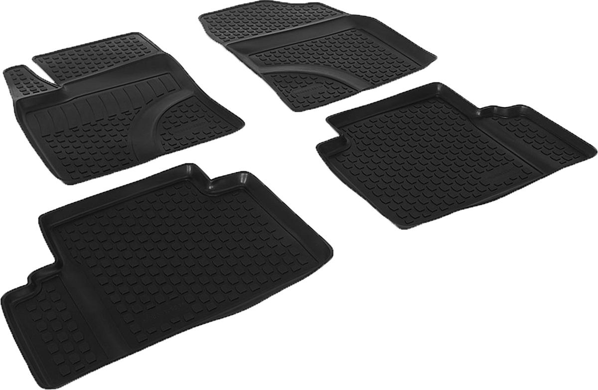 Коврики в салон автомобиля L.Locker, для Toyota Avensis (09-), 4 шт0209010301Коврики L.Locker производятся индивидуально для каждой модели автомобиля из современного и экологически чистого материала. Изделия точно повторяют геометрию пола автомобиля, имеют высокий борт, обладают повышенной износоустойчивостью, антискользящими свойствами, лишены резкого запаха и сохраняют свои потребительские свойства в широком диапазоне температур (от -50°С до +80°С). Рисунок ковриков специально спроектирован для уменьшения скольжения ног водителя и имеет достаточную глубину, препятствующую свободному перемещению жидкости и грязи на поверхности. Одновременно с этим рисунок не создает дискомфорта при вождении автомобиля. Водительский ковер с предустановленными креплениями фиксируется на штатные места в полу салона автомобиля. Новая технология системы креплений герметична, не дает влаге и грязи проникать внутрь через крепеж на обшивку пола.