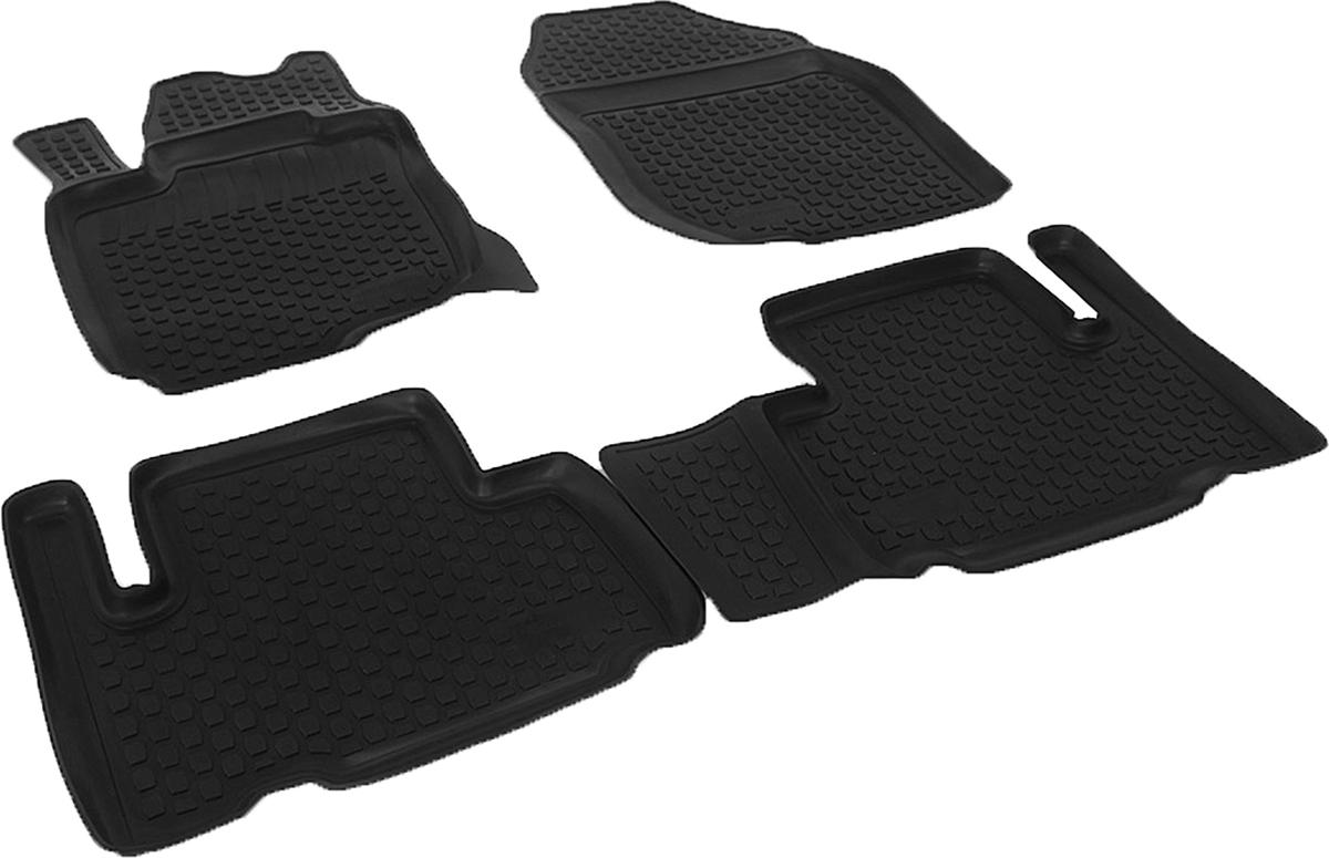 Коврики в салон автомобиля L.Locker, для Toyota RAV4 4 (08-), 4 шт0209040401Коврики L.Locker производятся индивидуально для каждой модели автомобиля из современного и экологически чистого материала. Изделия точно повторяют геометрию пола автомобиля, имеют высокий борт, обладают повышенной износоустойчивостью, антискользящими свойствами, лишены резкого запаха и сохраняют свои потребительские свойства в широком диапазоне температур (от -50°С до +80°С). Рисунок ковриков специально спроектирован для уменьшения скольжения ног водителя и имеет достаточную глубину, препятствующую свободному перемещению жидкости и грязи на поверхности. Одновременно с этим рисунок не создает дискомфорта при вождении автомобиля. Водительский ковер с предустановленными креплениями фиксируется на штатные места в полу салона автомобиля. Новая технология системы креплений герметична, не дает влаге и грязи проникать внутрь через крепеж на обшивку пола.