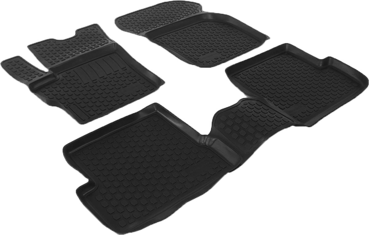 Коврики в салон автомобиля L.Locker, для Mazda 3 (03-), 4 шт0210020101Коврики L.Locker производятся индивидуально для каждой модели автомобиля из современного и экологически чистого материала. Изделия точно повторяют геометрию пола автомобиля, имеют высокий борт, обладают повышенной износоустойчивостью, антискользящими свойствами, лишены резкого запаха и сохраняют свои потребительские свойства в широком диапазоне температур (от -50°С до +80°С). Рисунок ковриков специально спроектирован для уменьшения скольжения ног водителя и имеет достаточную глубину, препятствующую свободному перемещению жидкости и грязи на поверхности. Одновременно с этим рисунок не создает дискомфорта при вождении автомобиля. Водительский ковер с предустановленными креплениями фиксируется на штатные места в полу салона автомобиля. Новая технология системы креплений герметична, не дает влаге и грязи проникать внутрь через крепеж на обшивку пола.