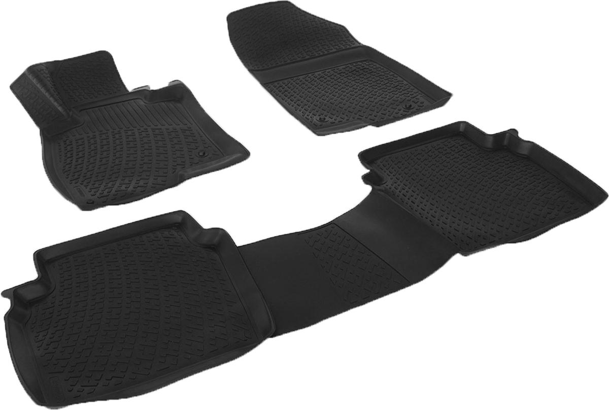 Коврики в салон автомобиля L.Locker, для Mazda 6 III (12-)0210030501Коврики L.Locker производятся индивидуально для каждой модели автомобиля из современного и экологически чистого материала. Изделия точно повторяют геометрию пола автомобиля, имеют высокий борт, обладают повышенной износоустойчивостью, антискользящими свойствами, лишены резкого запаха и сохраняют свои потребительские свойства в широком диапазоне температур (от -50°С до +80°С). Рисунок ковриков специально спроектирован для уменьшения скольжения ног водителя и имеет достаточную глубину, препятствующую свободному перемещению жидкости и грязи на поверхности. Одновременно с этим рисунок не создает дискомфорта при вождении автомобиля. Водительский ковер с предустановленными креплениями фиксируется на штатные места в полу салона автомобиля. Новая технология системы креплений герметична, не дает влаге и грязи проникать внутрь через крепеж на обшивку пола.