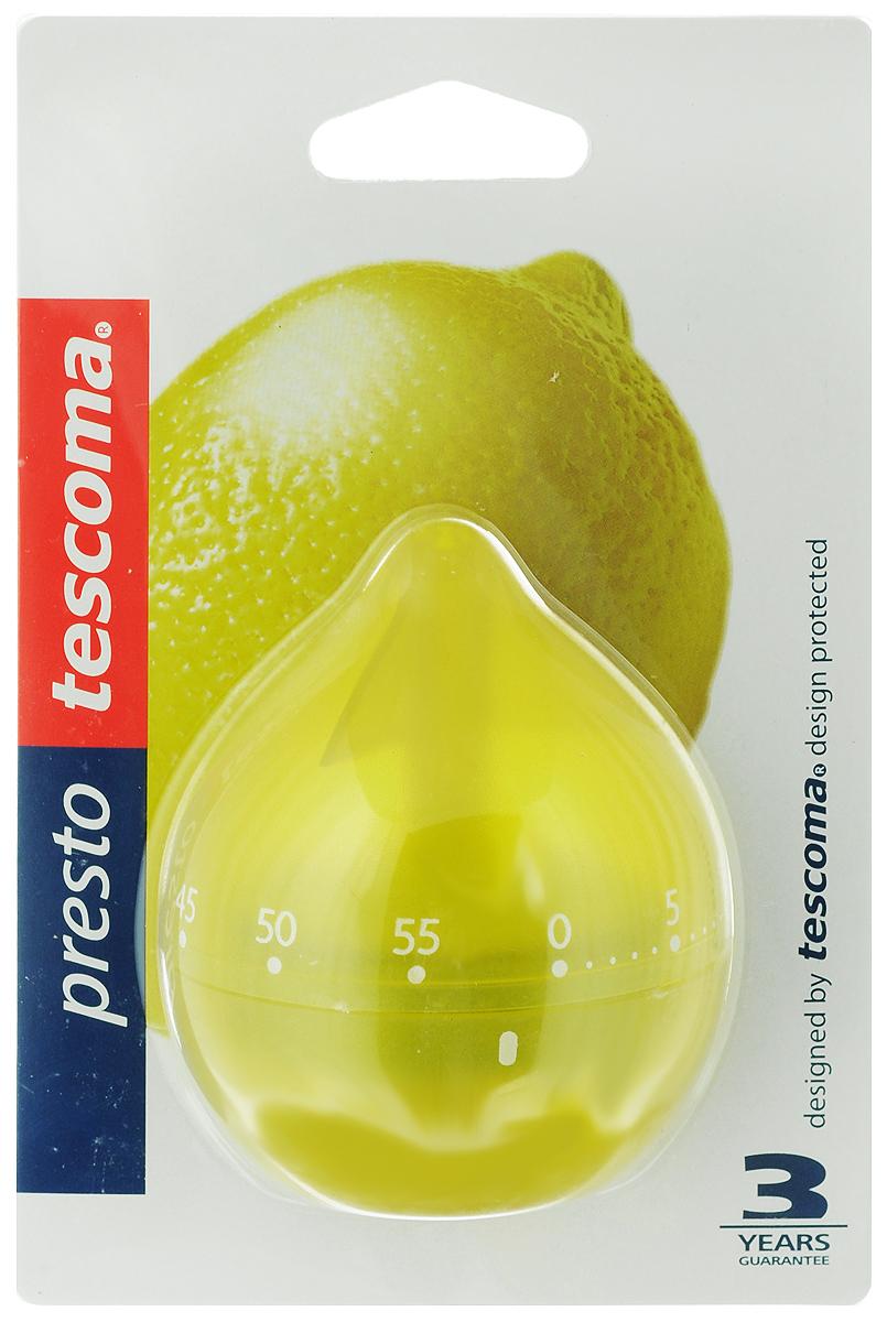 Таймер кухонный Tescoma Фрукт. Лимон, цвет: желтый, на 60 мин636071_ желтыйКухонный таймер Tescoma Фрукт. Лимон изготовлен из цветного пластика. Таймер выполнен в виде лимона. Максимальное время, на которое вы можете поставить таймер, составляет 60 минут. После того, как время истечет, таймер громко зазвенит. Оригинальный дизайн таймера украсит интерьер любой современной кухни, и теперь вы сможете без труда вскипятить молоко, отварить пельмени или вовремя вынуть из духовки аппетитный пирог.