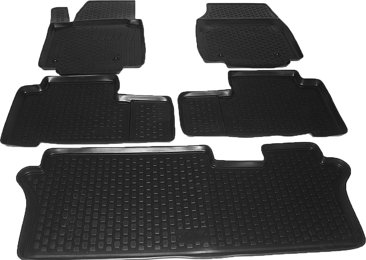 Коврики в салон автомобиля L.Locker, для Honda Pilot (08-), 5 шт0213040101Коврики L.Locker производятся индивидуально для каждой модели автомобиля из современного и экологически чистого материала. Изделия точно повторяют геометрию пола автомобиля, имеют высокий борт, обладают повышенной износоустойчивостью, антискользящими свойствами, лишены резкого запаха и сохраняют свои потребительские свойства в широком диапазоне температур (от -50°С до +80°С). Рисунок ковриков специально спроектирован для уменьшения скольжения ног водителя и имеет достаточную глубину, препятствующую свободному перемещению жидкости и грязи на поверхности. Одновременно с этим рисунок не создает дискомфорта при вождении автомобиля. Водительский ковер с предустановленными креплениями фиксируется на штатные места в полу салона автомобиля. Новая технология системы креплений герметична, не дает влаге и грязи проникать внутрь через крепеж на обшивку пола.