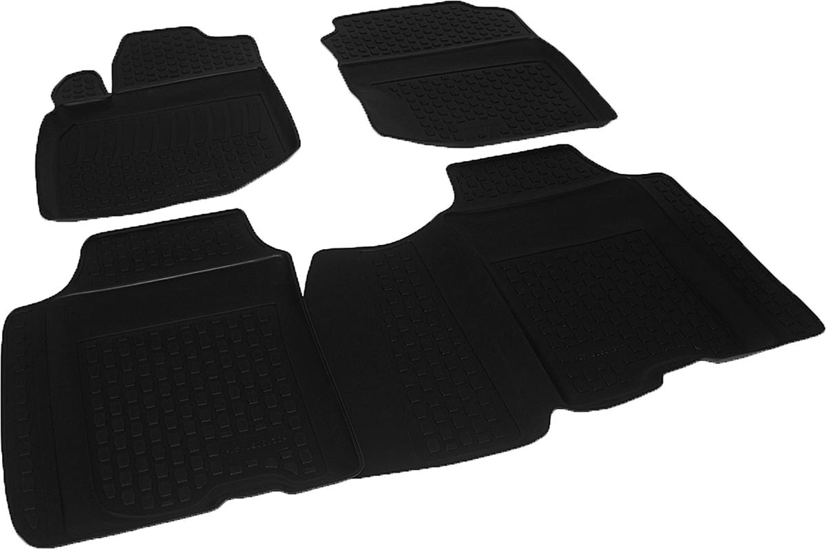 Коврики в салон автомобиля L.Locker, для Honda Jazz II (08-), 4 шт0213050101Коврики L.Locker производятся индивидуально для каждой модели автомобиля из современного и экологически чистого материала. Изделия точно повторяют геометрию пола автомобиля, имеют высокий борт, обладают повышенной износоустойчивостью, антискользящими свойствами, лишены резкого запаха и сохраняют свои потребительские свойства в широком диапазоне температур (от -50°С до +80°С). Рисунок ковриков специально спроектирован для уменьшения скольжения ног водителя и имеет достаточную глубину, препятствующую свободному перемещению жидкости и грязи на поверхности. Одновременно с этим рисунок не создает дискомфорта при вождении автомобиля. Водительский ковер с предустановленными креплениями фиксируется на штатные места в полу салона автомобиля. Новая технология системы креплений герметична, не дает влаге и грязи проникать внутрь через крепеж на обшивку пола.