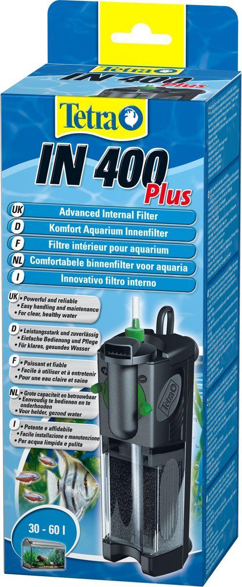 Фильтр внутренний TetraIN 400 Plus, для аквариумов до 60 л607644Внутренний фильтр TetraTec IN400. Мощный и удобный внутренний фильтр для механической, биологической и химической очистки воды в аквариуме до 60 л. Фильтр изготовлен с 2 камерами очистки. Новая конструкция дает возможность извлекать наполнитель, не трогая при этом фильтрационную губку. Водный оборот настраивается для определенного аквариума в индивидуальном порядке. Выходные сопла прибора вращаются на 180 градусов. Есть дополнительный воздушный забор, осуществляемый системой Venturi. Компактная конструкция фильтра занимает совсем немного свободного пространства. Стабильные присоски прочно закрепляют прибор на стеклянной поверхности. В качестве запасных элементов в комплекте прибора предусмотрены активированный уголь и биологическая губка, а также качественные удостоверения.