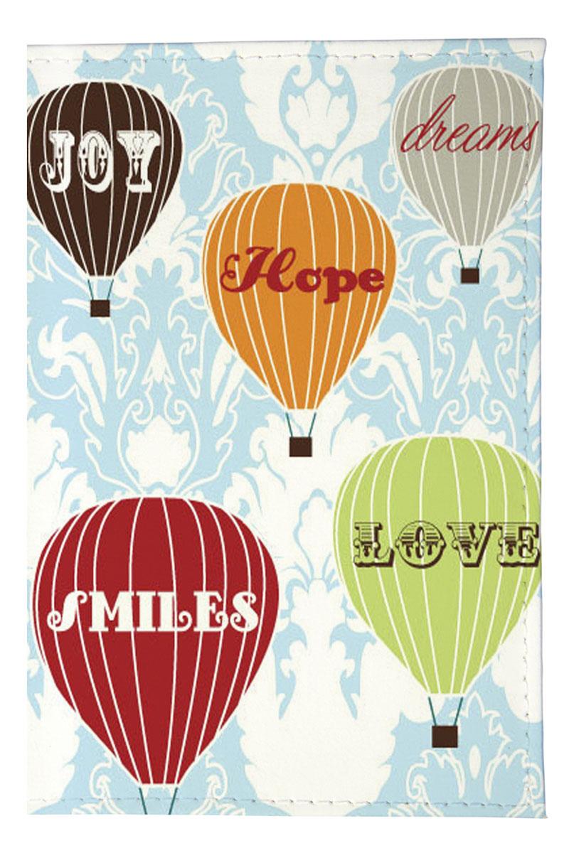 """Визитница вертикальная Mitya Veselkov """"Полет на воздушном шаре"""", цвет: белый, мультицвет. VIZAM100"""
