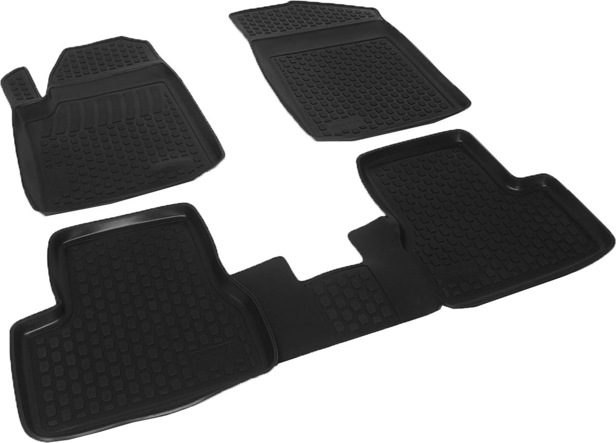 Коврики в салон автомобиля L.Locker, для Citroen C3 (02-), 4 шт0222030101Коврики L.Locker производятся индивидуально для каждой модели автомобиля из современного и экологически чистого материала. Изделия точно повторяют геометрию пола автомобиля, имеют высокий борт, обладают повышенной износоустойчивостью, антискользящими свойствами, лишены резкого запаха и сохраняют свои потребительские свойства в широком диапазоне температур (от -50°С до +80°С). Рисунок ковриков специально спроектирован для уменьшения скольжения ног водителя и имеет достаточную глубину, препятствующую свободному перемещению жидкости и грязи на поверхности. Одновременно с этим рисунок не создает дискомфорта при вождении автомобиля. Водительский ковер с предустановленными креплениями фиксируется на штатные места в полу салона автомобиля. Новая технология системы креплений герметична, не дает влаге и грязи проникать внутрь через крепеж на обшивку пола.