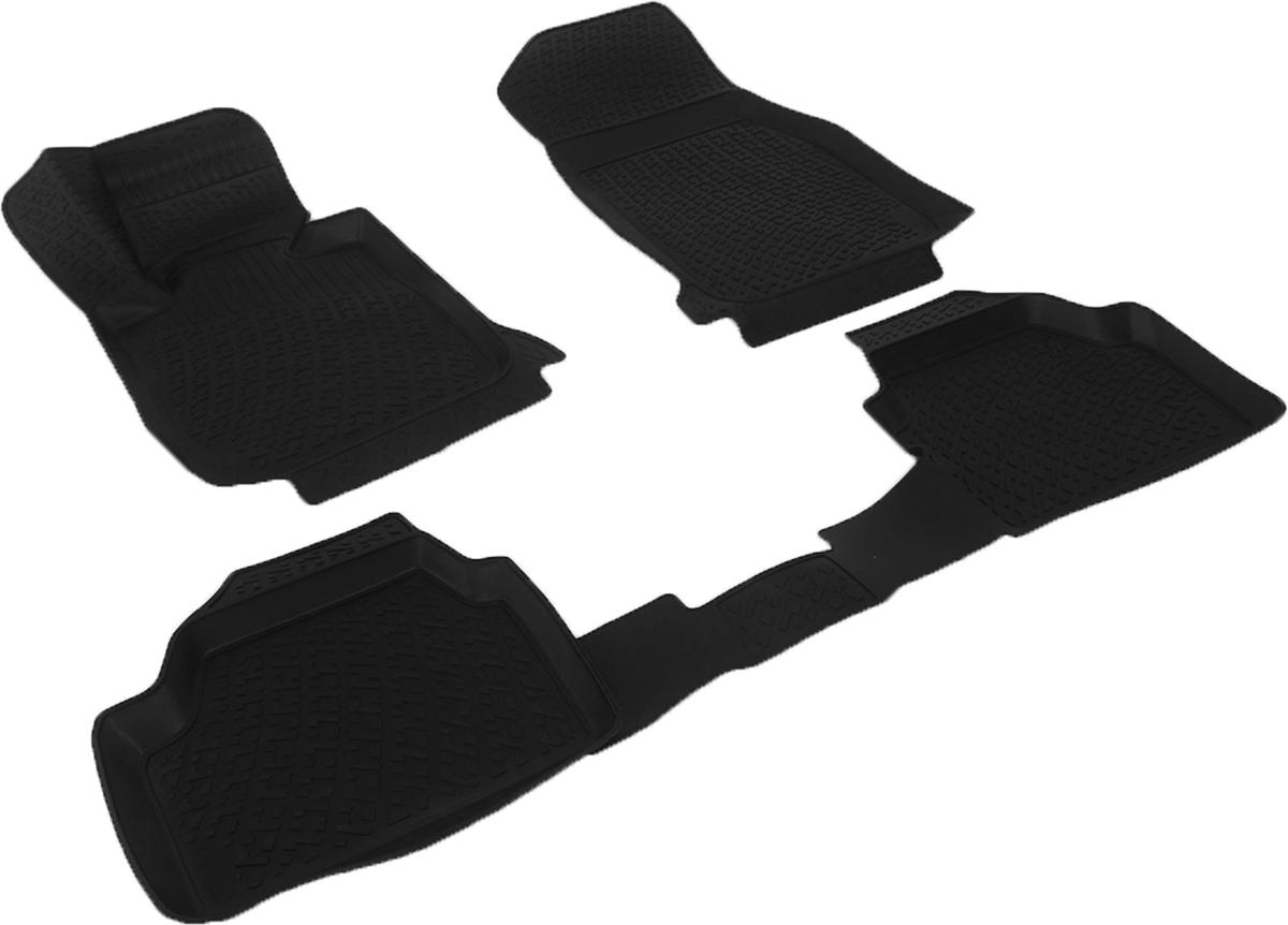 Коврики в салон автомобиля L.Locker, для BMW 1er II (F20) 5 door (11-), 3 шт0229010301Коврики L.Locker производятся индивидуально для каждой модели автомобиля из современного и экологически чистого материала. Изделия точно повторяют геометрию пола автомобиля, имеют высокий борт, обладают повышенной износоустойчивостью, антискользящими свойствами, лишены резкого запаха и сохраняют свои потребительские свойства в широком диапазоне температур (от -50°С до +80°С). Рисунок ковриков специально спроектирован для уменьшения скольжения ног водителя и имеет достаточную глубину, препятствующую свободному перемещению жидкости и грязи на поверхности. Одновременно с этим рисунок не создает дискомфорта при вождении автомобиля. Водительский ковер с предустановленными креплениями фиксируется на штатные места в полу салона автомобиля. Новая технология системы креплений герметична, не дает влаге и грязи проникать внутрь через крепеж на обшивку пола.