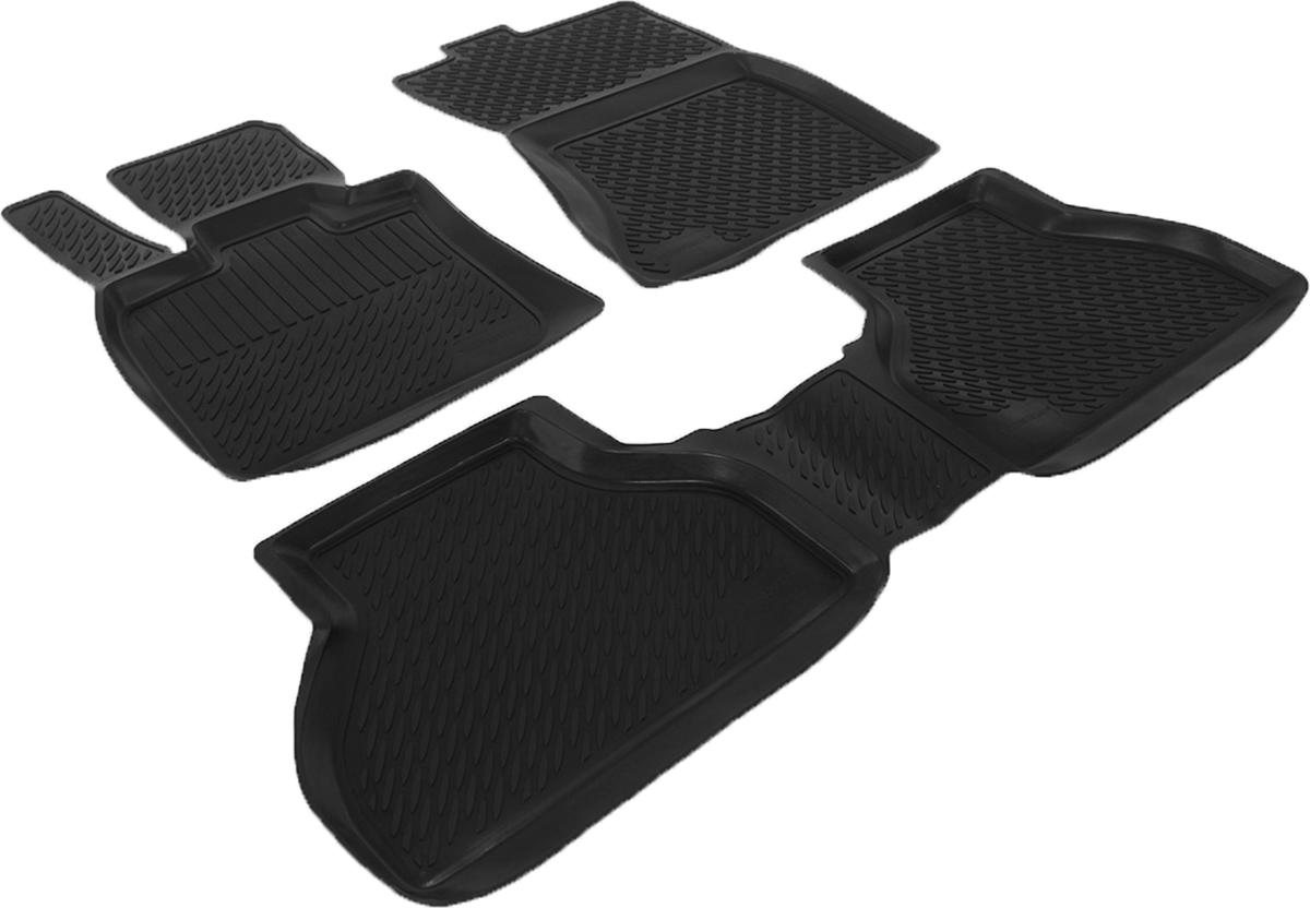 Коврики в салон автомобиля L.Locker, для BMW X 5-70 (07-), 3 шт0229030201Коврики L.Locker производятся индивидуально для каждой модели автомобиля из современного и экологически чистого материала. Изделия точно повторяют геометрию пола автомобиля, имеют высокий борт, обладают повышенной износоустойчивостью, антискользящими свойствами, лишены резкого запаха и сохраняют свои потребительские свойства в широком диапазоне температур (от -50°С до +80°С). Рисунок ковриков специально спроектирован для уменьшения скольжения ног водителя и имеет достаточную глубину, препятствующую свободному перемещению жидкости и грязи на поверхности. Одновременно с этим рисунок не создает дискомфорта при вождении автомобиля. Водительский ковер с предустановленными креплениями фиксируется на штатные места в полу салона автомобиля. Новая технология системы креплений герметична, не дает влаге и грязи проникать внутрь через крепеж на обшивку пола.