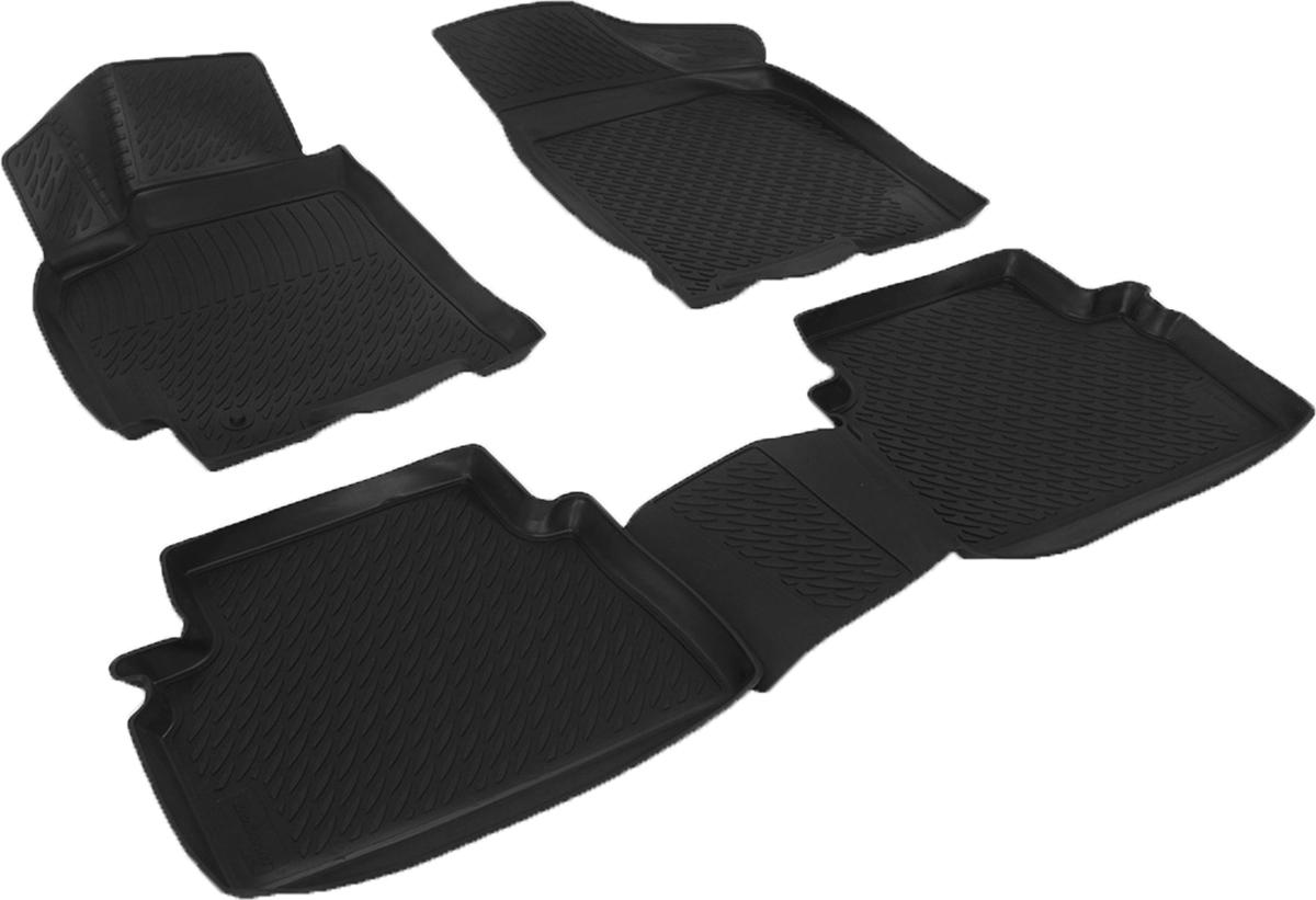Коврики в салон автомобиля L.Locker, для Daewoo Gentra II (13-)0284040101Коврики L.Locker производятся индивидуально для каждой модели автомобиля из современного и экологически чистого материала. Изделия точно повторяют геометрию пола автомобиля, имеют высокий борт, обладают повышенной износоустойчивостью, антискользящими свойствами, лишены резкого запаха и сохраняют свои потребительские свойства в широком диапазоне температур (от -50°С до +80°С). Рисунок ковриков специально спроектирован для уменьшения скольжения ног водителя и имеет достаточную глубину, препятствующую свободному перемещению жидкости и грязи на поверхности. Одновременно с этим рисунок не создает дискомфорта при вождении автомобиля. Водительский ковер с предустановленными креплениями фиксируется на штатные места в полу салона автомобиля. Новая технология системы креплений герметична, не дает влаге и грязи проникать внутрь через крепеж на обшивку пола.