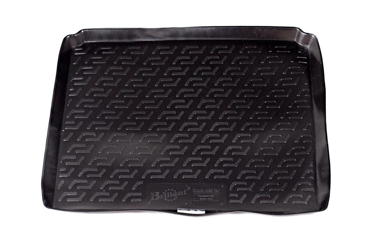Коврик в багажник L.Locker, для Peugeot 407 sd (04-)0120090101Коврик L.Locker производится индивидуально для каждой модели автомобиля из современного и экологически чистого материала. Изделие точно повторяют геометрию пола автомобиля, имеет высокий борт, обладает повышенной износоустойчивостью, антискользящими свойствами, лишен резкого запаха и сохраняет свои потребительские свойства в широком диапазоне температур (от -50°С до +80°С).