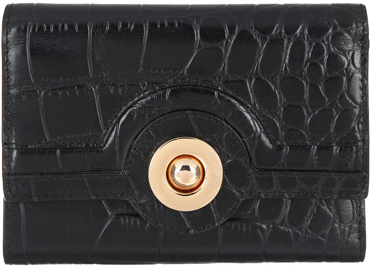 Кошелек женский Leo Ventoni, цвет: черный. L330525L330525-cocco neroМодный женский кошелек Leo Ventoni выполнен из натуральной кожи и оформлен тиснением под крокодила. Подкладка изготовлена из полиэстера. Внутри - два глубоких отделения для купюр, семь кармашков для кредитных карт, четыре боковых отделения для мелочей и карман с прозрачным пластиковым окошком. Снаружи имеется карман на металлической молнии для мелочи. Изделие застегивается клапаном на металлический замок. Кошелек упакован в коробку из плотного картона с логотипом фирмы. Такой кошелек станет замечательным подарком человеку, ценящему качественные и практичные вещи.