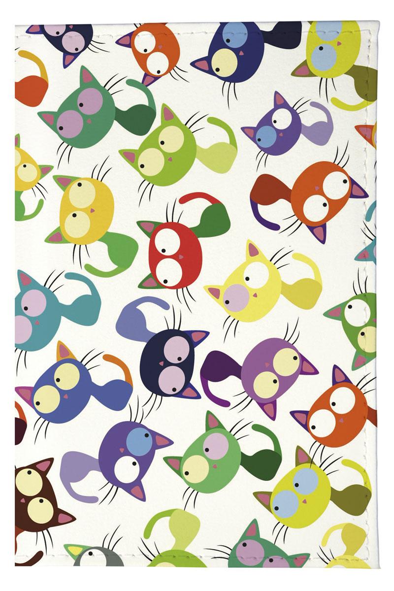 Mitya Veselkov Обложка для паспорта Цветные кошки - мешанина. OZAM204OZAM204