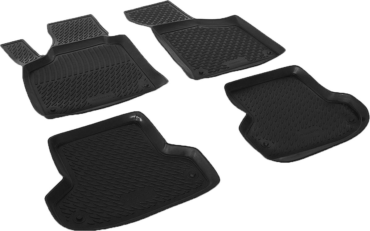 Коврики в салон автомобиля L.Locker, для Audi A3 (08-), 4 шт0200020101Коврики L.Locker производятся индивидуально для каждой модели автомобиля из современного и экологически чистого материала. Изделия точно повторяют геометрию пола автомобиля, имеют высокий борт, обладают повышенной износоустойчивостью, антискользящими свойствами, лишены резкого запаха и сохраняют свои потребительские свойства в широком диапазоне температур (от -50°С до +80°С). Рисунок ковриков специально спроектирован для уменьшения скольжения ног водителя и имеет достаточную глубину, препятствующую свободному перемещению жидкости и грязи на поверхности. Одновременно с этим рисунок не создает дискомфорта при вождении автомобиля. Водительский ковер с предустановленными креплениями фиксируется на штатные места в полу салона автомобиля. Новая технология системы креплений герметична, не дает влаге и грязи проникать внутрь через крепеж на обшивку пола.