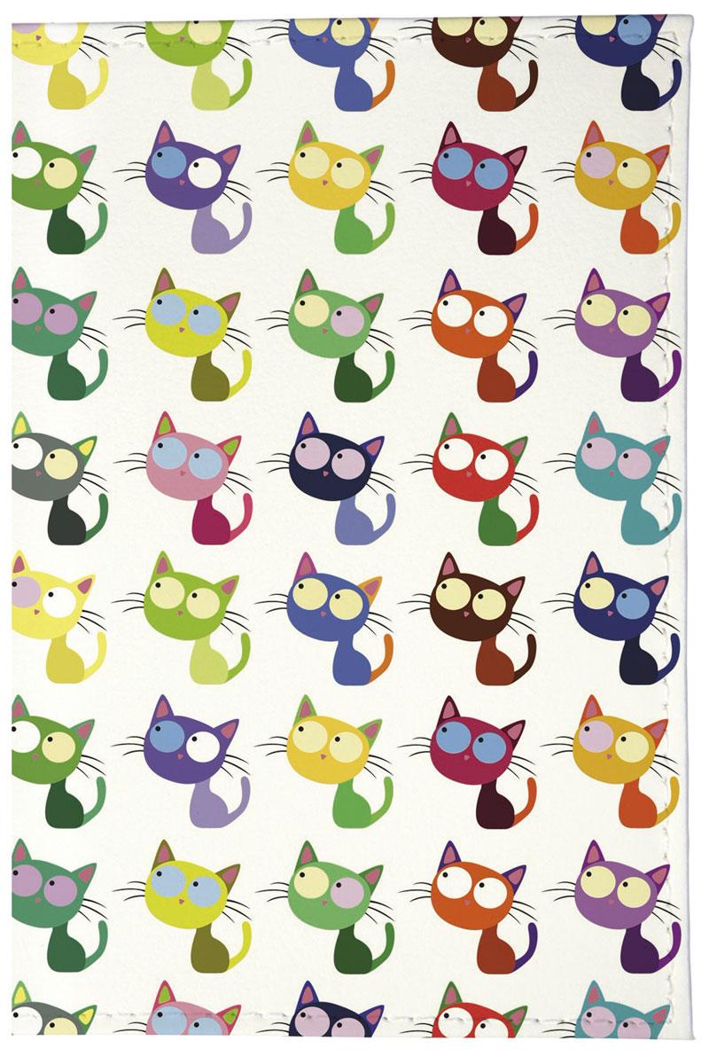 Mitya Veselkov Обложка для паспорта Цветные кошки в ряд. OZAM203OZAM203