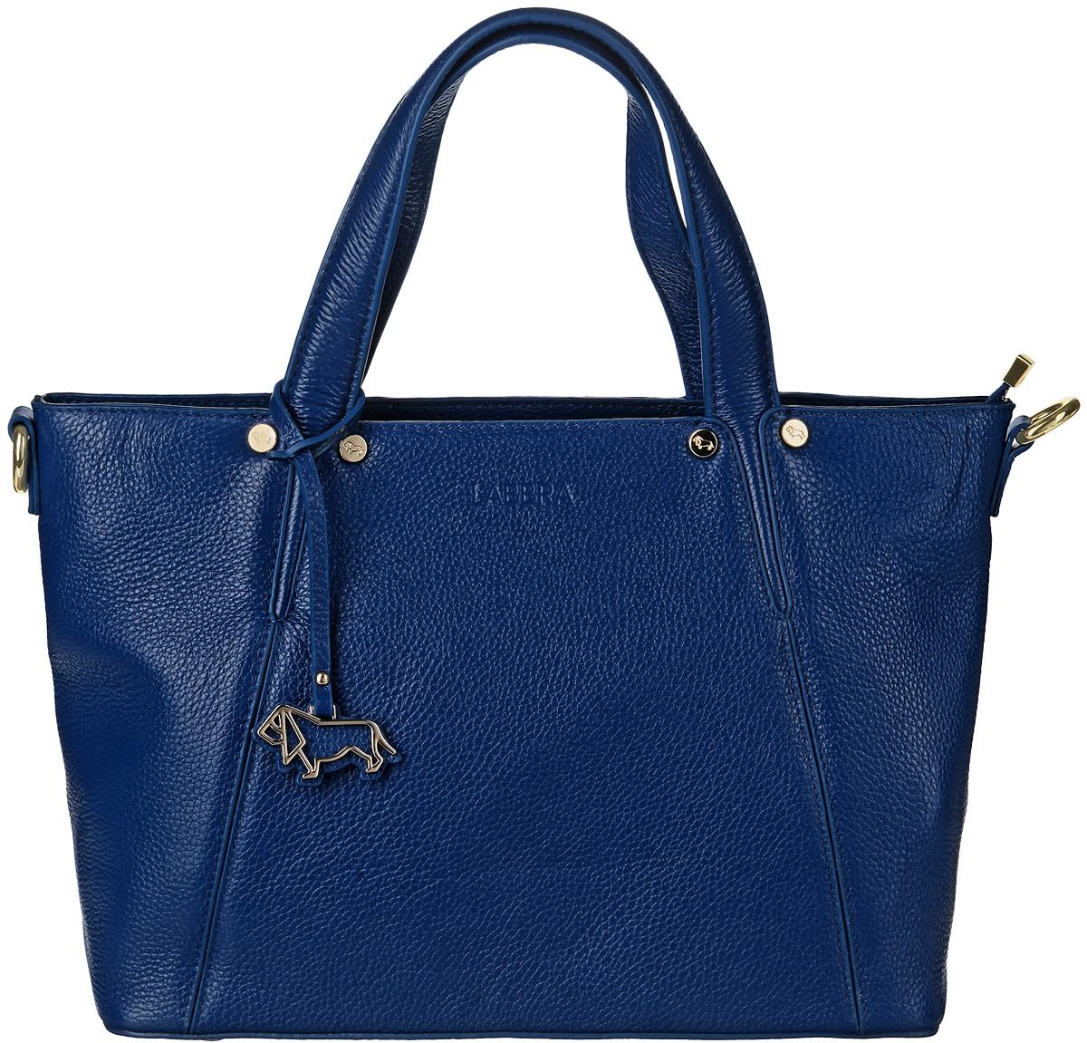 Сумка женская Labbra, цвет: синий. L-DA80886L-DA80886Стильная сумка Labbra изготовлена из натуральной кожи с зернистой фактурой, оформлена металлической фурнитурой и оригинальной подвеской в форме собаки. Изделие содержит одно основное отделение, закрывающееся на застежку-молнию. Внутри расположены два накладных кармашка для мелочей, врезной карман на молнии и карман-средник на молнии. Задняя сторона сумки дополнена врезным карманом на молнии. Изделие оснащено двумя практичными ручками и съемным наплечным ремнем. Дно изделия дополнено металлическими ножками. Оригинальный аксессуар позволит вам завершить образ и быть неотразимой.