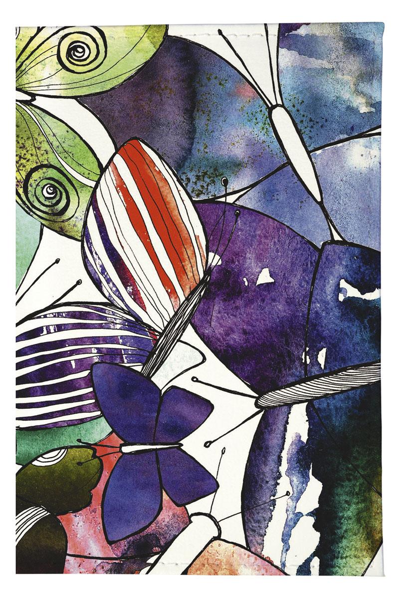 Mitya Veselkov Обложка для автодокументов Акварельные бабочки. AUTOZAM219AUTOZAM219