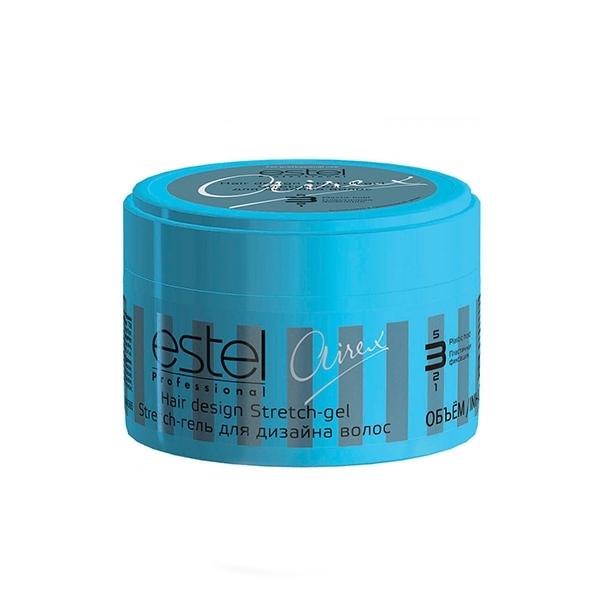 Estel Airex Stretch-гель для дизайна волос пластичная фиксация 65 млAS65Estel Airex Stretch - гель для дизайна волос пластичная фиксация обеспечивает пластичную фиксацию, придает блеск. Паутинообразные волокна идеальны для создания гибкой и подвижной укладки, позволяют расставлять акценты. Для неограниченных экспериментов в стайлинге!