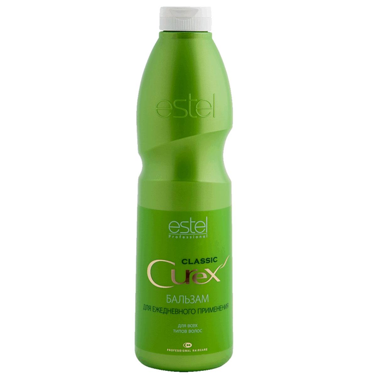 Estel Curex Classiс Бальзам Увлажнение и Питание для ежедневного применения 1000 млCU1000/B10Estel Curex Classic Бальзам «Увлажнение и Питание» обеспечивает интенсивное увлажнение и уход за волосами. Пантенол, витамин Е и масло авокадо питают и восстанавливают структуру волос, делают их мягкими, шелковистыми и блестящими. Хорошо кондиционирует волосы. Результат: легкость расчесывания, мягкость, шелковистость и блеск волос.