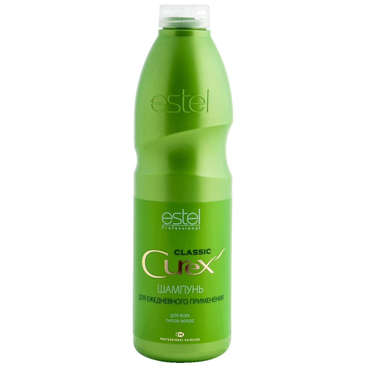 Estel Curex Classiс Шампунь Увлажнение и Питание для ежедневного применения 1000 млCU1000/S8ESTEL CUREX CLASSIC ШАМПУНЬ «УВЛАЖНЕНИЕ И ПИТАНИЕ» для всех типов волос Содержит хитозан, который увлажняет волосы и предохраняет их от потери влаги. Питающий провитамин В5 укрепляет волосы, придает им эластичность и здоровый блеск. Результат: Здоровые и крепкие волосы Питание и увлажнение Мягкое очищение