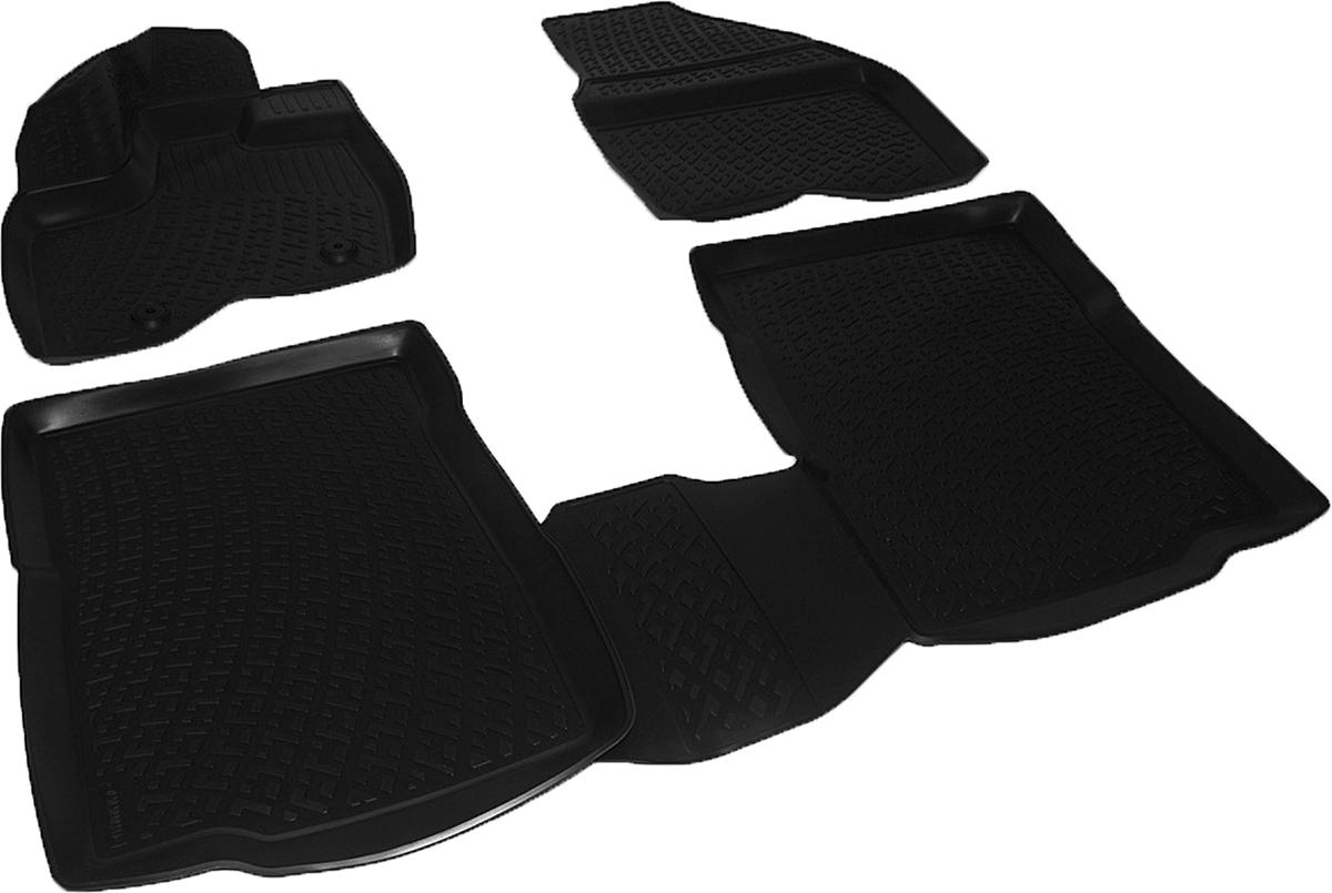 Коврики в салон автомобиля L.Locker, для Ford Explorer V (10-), 4 шт0202090201Коврики L.Locker производятся индивидуально для каждой модели автомобиля из современного и экологически чистого материала. Изделия точно повторяют геометрию пола автомобиля, имеют высокий борт, обладают повышенной износоустойчивостью, антискользящими свойствами, лишены резкого запаха и сохраняют свои потребительские свойства в широком диапазоне температур (от -50°С до +80°С). Рисунок ковриков специально спроектирован для уменьшения скольжения ног водителя и имеет достаточную глубину, препятствующую свободному перемещению жидкости и грязи на поверхности. Одновременно с этим рисунок не создает дискомфорта при вождении автомобиля. Водительский ковер с предустановленными креплениями фиксируется на штатные места в полу салона автомобиля. Новая технология системы креплений герметична, не дает влаге и грязи проникать внутрь через крепеж на обшивку пола.