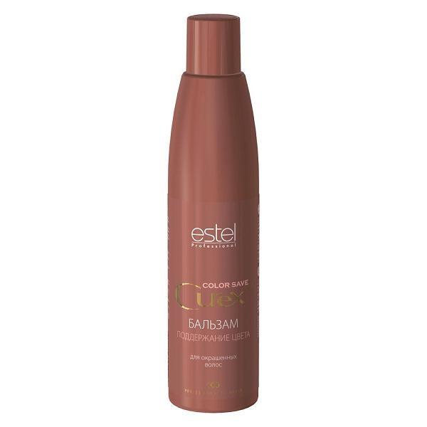 Estel Curex Color Save Бальзам для окрашенных волос 250 млCU250/B3Бальзам для окрашенных волос Estel Curex Color Save содержит инновационный стабилизатор цвета натрий PCA, поддерживающий интенсивность цвета и продлевающий стойкость окраски. Провитамин В5, витаминный комплекс и масло персика активно увлажняют и питают, придают шелковистый блеск окрашенным волосам. Результат: Интенсивность цвета Шелковистость и блеск волос Восстановление структуры