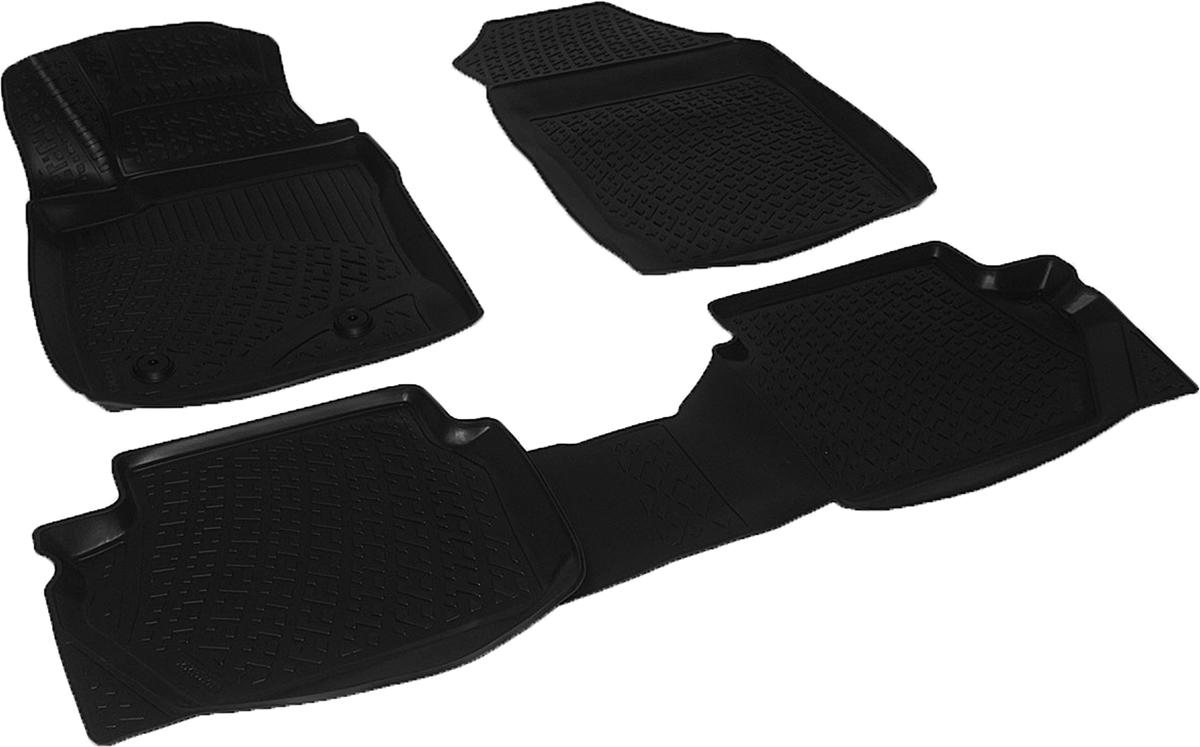 Коврики в салон автомобиля L.Locker, для Ford EcoSport (13-)0202150101Коврики L.Locker производятся индивидуально для каждой модели автомобиля из современного и экологически чистого материала. Изделия точно повторяют геометрию пола автомобиля, имеют высокий борт, обладают повышенной износоустойчивостью, антискользящими свойствами, лишены резкого запаха и сохраняют свои потребительские свойства в широком диапазоне температур (от -50°С до +80°С). Рисунок ковриков специально спроектирован для уменьшения скольжения ног водителя и имеет достаточную глубину, препятствующую свободному перемещению жидкости и грязи на поверхности. Одновременно с этим рисунок не создает дискомфорта при вождении автомобиля. Водительский ковер с предустановленными креплениями фиксируется на штатные места в полу салона автомобиля. Новая технология системы креплений герметична, не дает влаге и грязи проникать внутрь через крепеж на обшивку пола.
