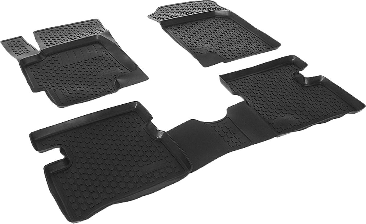 Коврики в салон автомобиля L.Locker, для Kia Rio III (05-), 4 шт0203010301Коврики L.Locker производятся индивидуально для каждой модели автомобиля из современного и экологически чистого материала. Изделия точно повторяют геометрию пола автомобиля, имеют высокий борт, обладают повышенной износоустойчивостью, антискользящими свойствами, лишены резкого запаха и сохраняют свои потребительские свойства в широком диапазоне температур (от -50°С до +80°С). Рисунок ковриков специально спроектирован для уменьшения скольжения ног водителя и имеет достаточную глубину, препятствующую свободному перемещению жидкости и грязи на поверхности. Одновременно с этим рисунок не создает дискомфорта при вождении автомобиля. Водительский ковер с предустановленными креплениями фиксируется на штатные места в полу салона автомобиля. Новая технология системы креплений герметична, не дает влаге и грязи проникать внутрь через крепеж на обшивку пола.