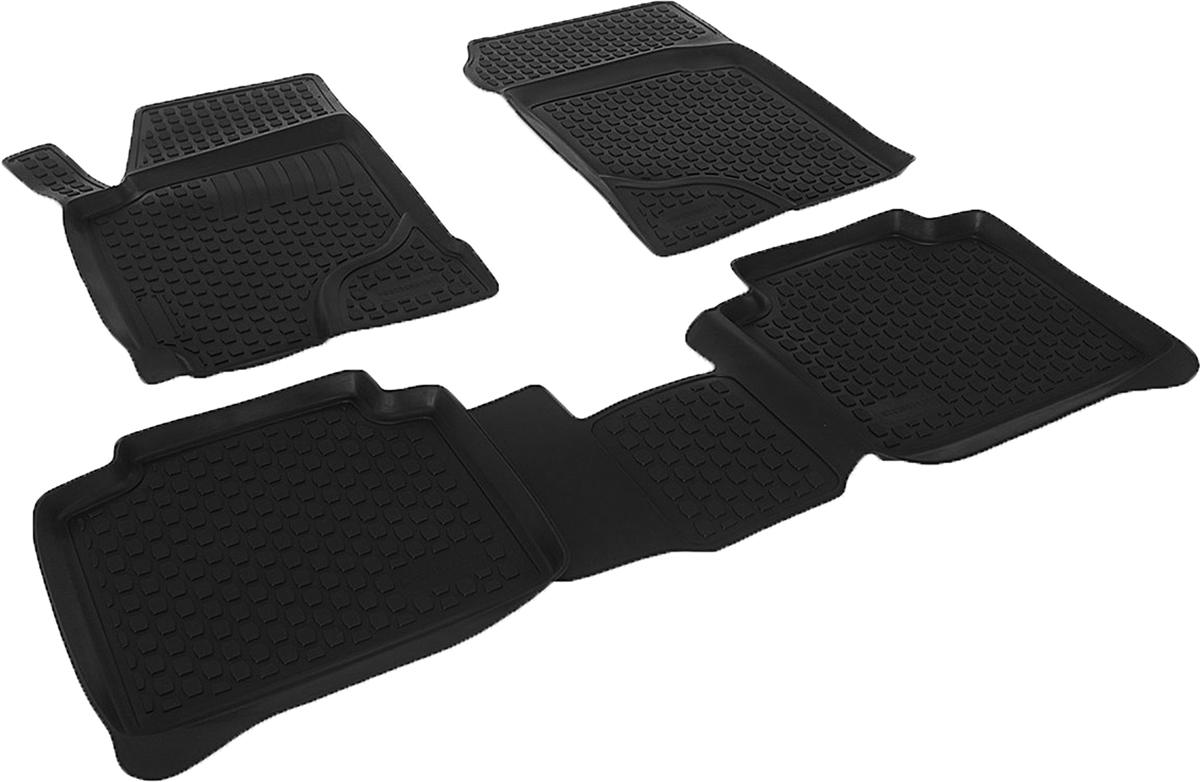 Коврики в салон автомобиля L.Locker, для Kia Cerato (05-), 4 шт0203050101Коврики L.Locker производятся индивидуально для каждой модели автомобиля из современного и экологически чистого материала. Изделия точно повторяют геометрию пола автомобиля, имеют высокий борт, обладают повышенной износоустойчивостью, антискользящими свойствами, лишены резкого запаха и сохраняют свои потребительские свойства в широком диапазоне температур (от -50°С до +80°С). Рисунок ковриков специально спроектирован для уменьшения скольжения ног водителя и имеет достаточную глубину, препятствующую свободному перемещению жидкости и грязи на поверхности. Одновременно с этим рисунок не создает дискомфорта при вождении автомобиля. Водительский ковер с предустановленными креплениями фиксируется на штатные места в полу салона автомобиля. Новая технология системы креплений герметична, не дает влаге и грязи проникать внутрь через крепеж на обшивку пола.
