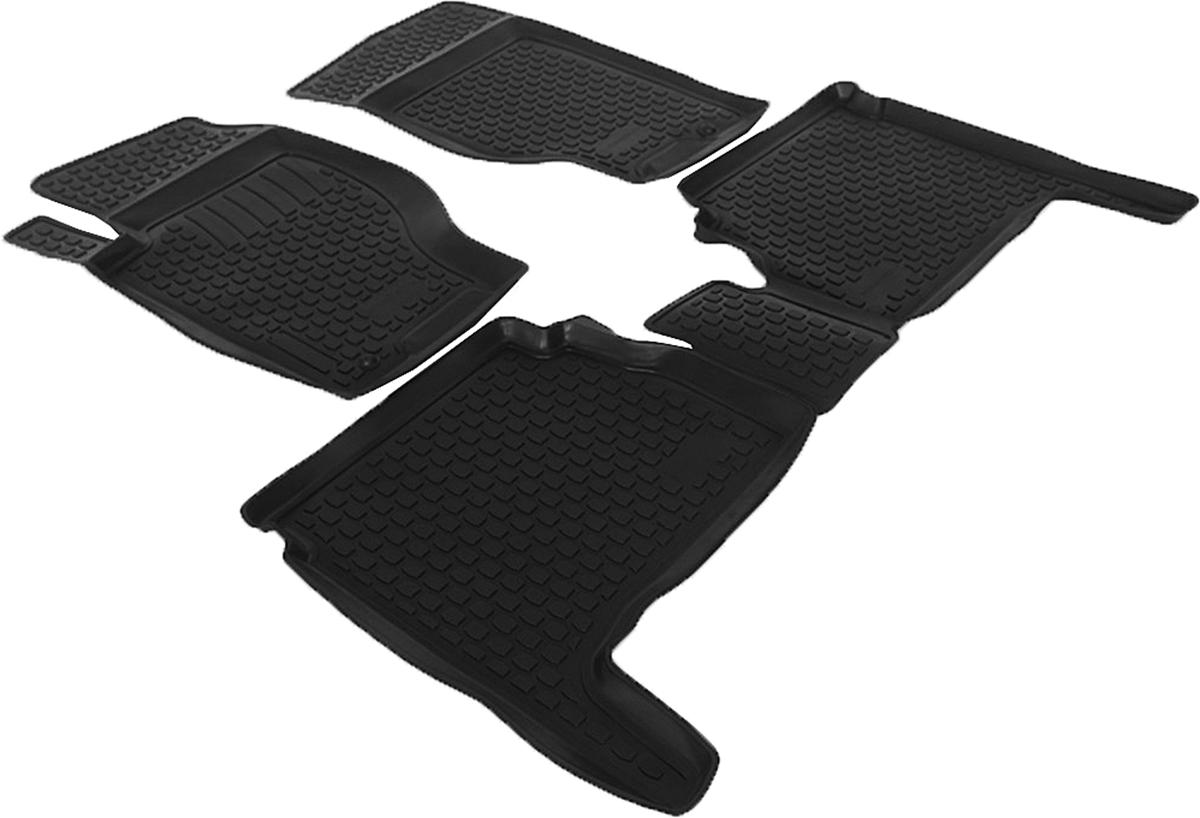 Коврики в салон автомобиля L.Locker, для Kia Sorento (02-), 4 шт0203070101Коврики L.Locker производятся индивидуально для каждой модели автомобиля из современного и экологически чистого материала. Изделия точно повторяют геометрию пола автомобиля, имеют высокий борт, обладают повышенной износоустойчивостью, антискользящими свойствами, лишены резкого запаха и сохраняют свои потребительские свойства в широком диапазоне температур (от -50°С до +80°С). Рисунок ковриков специально спроектирован для уменьшения скольжения ног водителя и имеет достаточную глубину, препятствующую свободному перемещению жидкости и грязи на поверхности. Одновременно с этим рисунок не создает дискомфорта при вождении автомобиля. Водительский ковер с предустановленными креплениями фиксируется на штатные места в полу салона автомобиля. Новая технология системы креплений герметична, не дает влаге и грязи проникать внутрь через крепеж на обшивку пола.