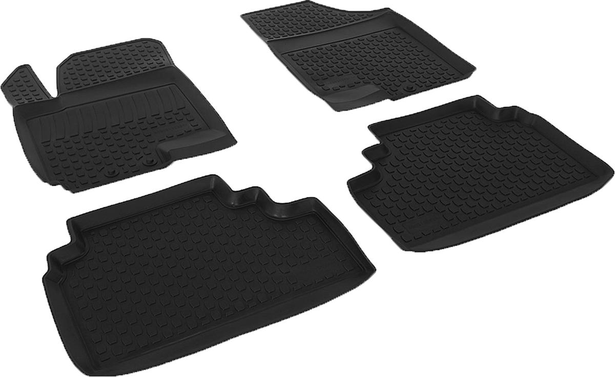 Коврики в салон автомобиля L.Locker, для Kia Venga (10-), 4 шт0203100201Коврики L.Locker производятся индивидуально для каждой модели автомобиля из современного и экологически чистого материала. Изделия точно повторяют геометрию пола автомобиля, имеют высокий борт, обладают повышенной износоустойчивостью, антискользящими свойствами, лишены резкого запаха и сохраняют свои потребительские свойства в широком диапазоне температур (от -50°С до +80°С). Рисунок ковриков специально спроектирован для уменьшения скольжения ног водителя и имеет достаточную глубину, препятствующую свободному перемещению жидкости и грязи на поверхности. Одновременно с этим рисунок не создает дискомфорта при вождении автомобиля. Водительский ковер с предустановленными креплениями фиксируется на штатные места в полу салона автомобиля. Новая технология системы креплений герметична, не дает влаге и грязи проникать внутрь через крепеж на обшивку пола.