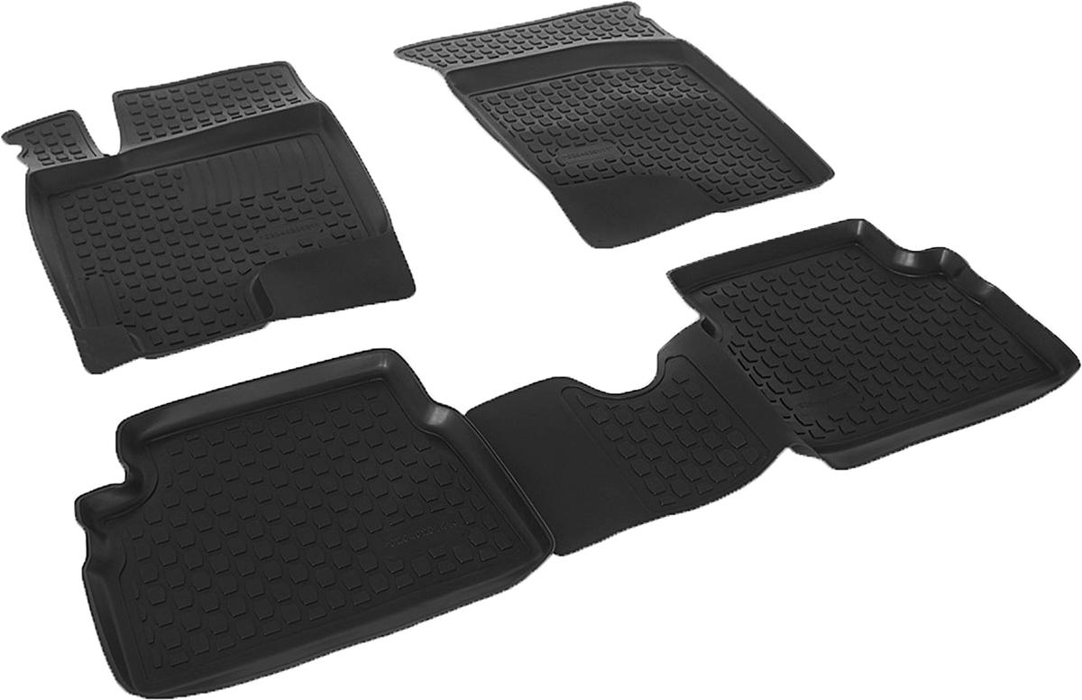Коврики в салон автомобиля L.Locker, для Hyundai Getz (03-), 4 шт0204020101Коврики L.Locker производятся индивидуально для каждой модели автомобиля из современного и экологически чистого материала. Изделия точно повторяют геометрию пола автомобиля, имеют высокий борт, обладают повышенной износоустойчивостью, антискользящими свойствами, лишены резкого запаха и сохраняют свои потребительские свойства в широком диапазоне температур (от -50°С до +80°С). Рисунок ковриков специально спроектирован для уменьшения скольжения ног водителя и имеет достаточную глубину, препятствующую свободному перемещению жидкости и грязи на поверхности. Одновременно с этим рисунок не создает дискомфорта при вождении автомобиля. Водительский ковер с предустановленными креплениями фиксируется на штатные места в полу салона автомобиля. Новая технология системы креплений герметична, не дает влаге и грязи проникать внутрь через крепеж на обшивку пола.
