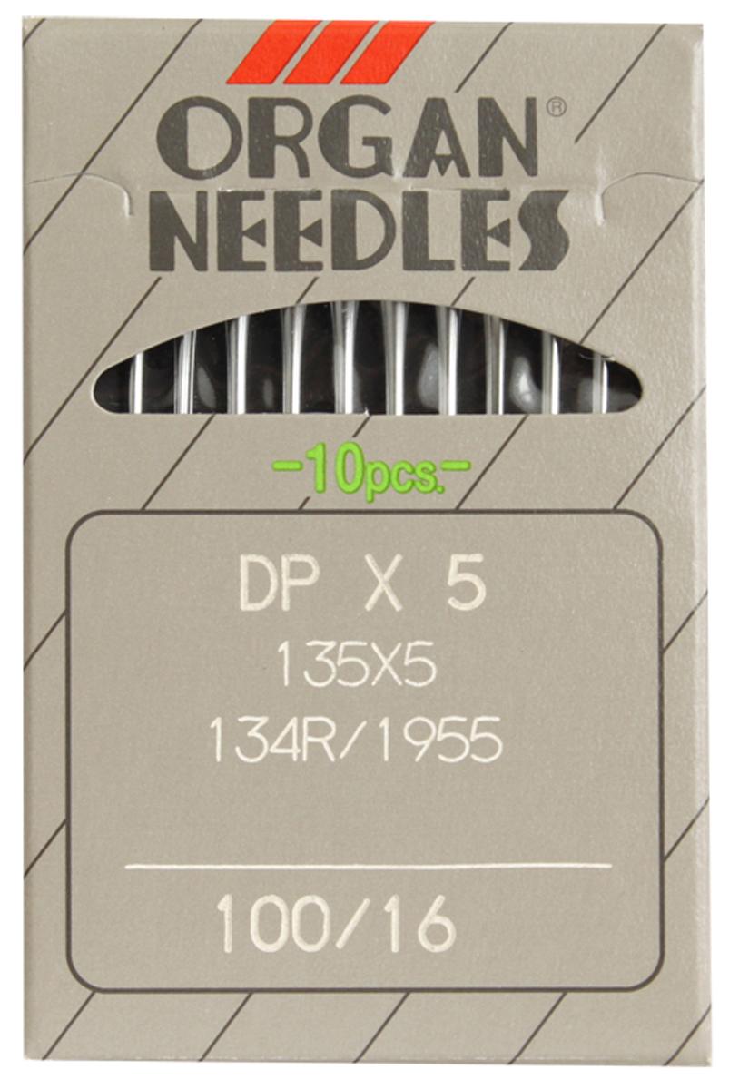 Иглы для промышленных швейных машин Organ, 5/100, уп.10шт, 162289162289