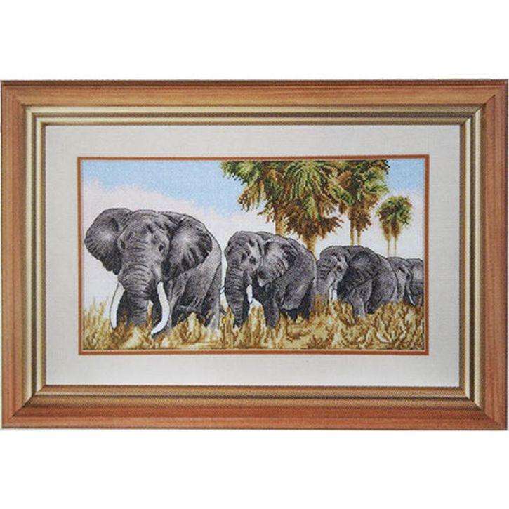 Набор для вышивания Hobby&Pro Прогулка под пальмами 37 x 21 см484317