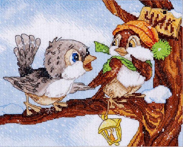 Набор для вышивания Hobby&Pro Чирик-чирик 22 x 18 см486674