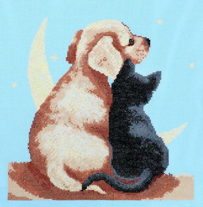 Набор для вышивания Hobby&Pro Друзья 28 x 27 см581445