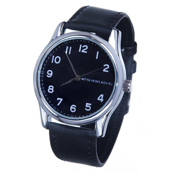 Часы наручные Mitya Veselkov Правильные цифры на черном MV-127MV-127