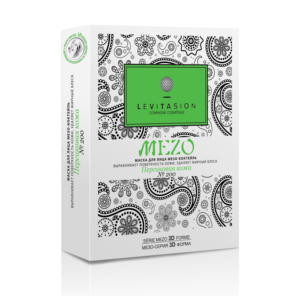 Levitasion MEZO маска для лица Персиковая кожа №200, 5 шт МПН0200