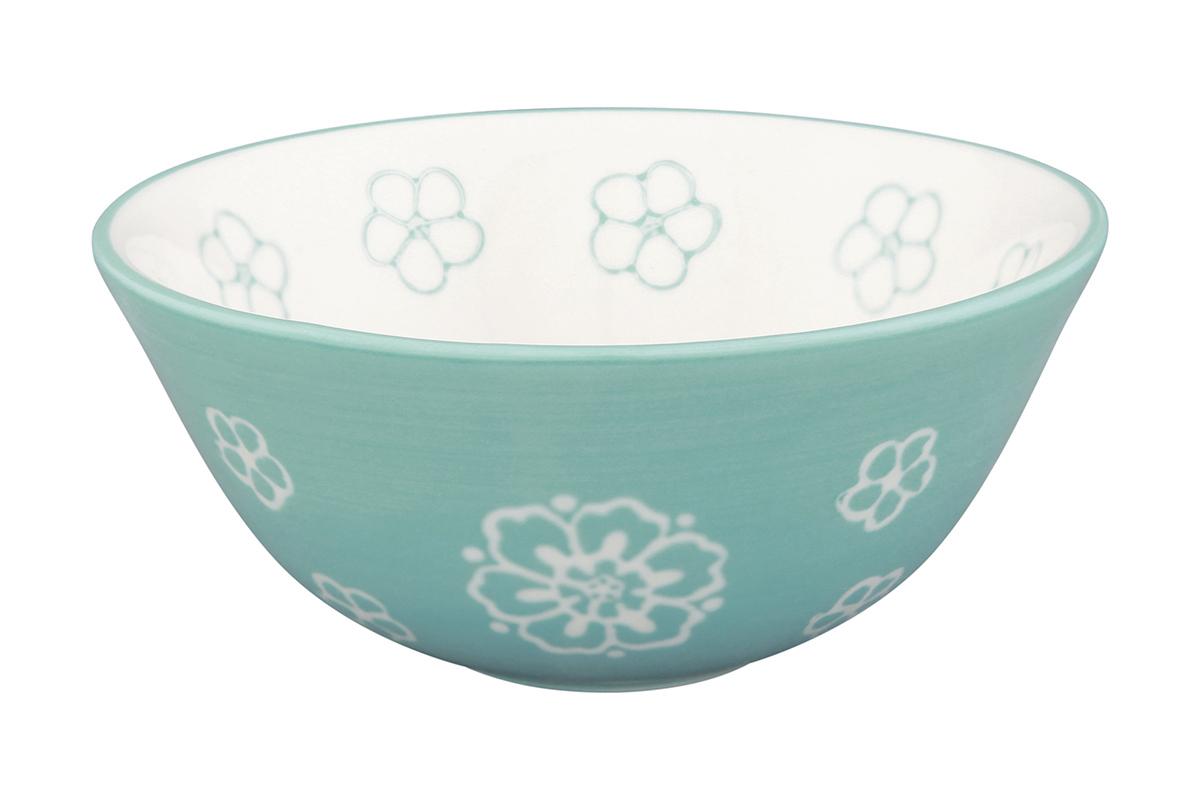 Салатник Elan Gallery Цветочное поле, цвет: белый, бирюзовый, 280 мл830181Великолепный круглый салатник Elan Gallery Цветочное поле, изготовленный из высококачественной керамики, прекрасно подойдет для подачи различных блюд: закусок, салатов или фруктов. Такой салатник украсит ваш праздничный или обеденный стол, а оригинальное исполнение понравится любой хозяйке. Не рекомендуется применять абразивные моющие средства. Не использовать в микроволновой печи. Диаметр салатника (по верхнему краю): 12,5 см.