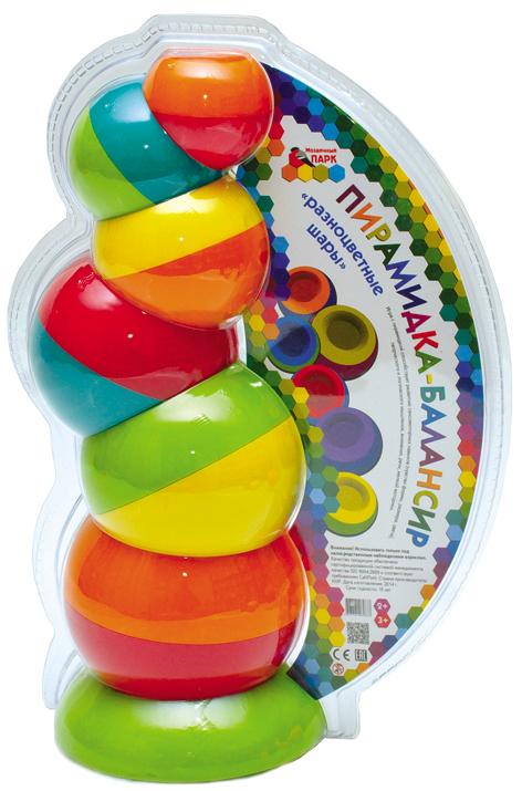 Мозаичный парк Пирамидка Разноцветные шары15128Пирамидка-балансир «Разноцветные шары» Пирамидка-балансир «Разноцветные шары» состоит из шести элементов, выполненных в виде разноцветных полусфер с углублением и утяжелённой нижней частью. Все шесть элементов имеют разный размер, легко вставляются один в другой. При этом форма позволяет складывать их разными способами: в углубление одной чаши входит выпуклость другой или, наоборот, на выпуклую часть ставится другая чаша вогнутой стороной. Это расширяет операциональные возможности игрушки. Ребенку потребуется активно изучить детали на ощупь и попробовать по-разному поставить их. Благодаря своей необычной форме игрушка вызывает у ребёнка исследовательский интерес и познавательную активность. Маленьким детям довольно трудно объяснить словами, что такое механическое равновесие и как оно работает. Зато дети очень хорошо могут почувствовать это на практике. Экспериментируя с пирамидкой-балансиром, малыши могут самостоятельно находить решения для создания устойчивых конструкций. Игра с...