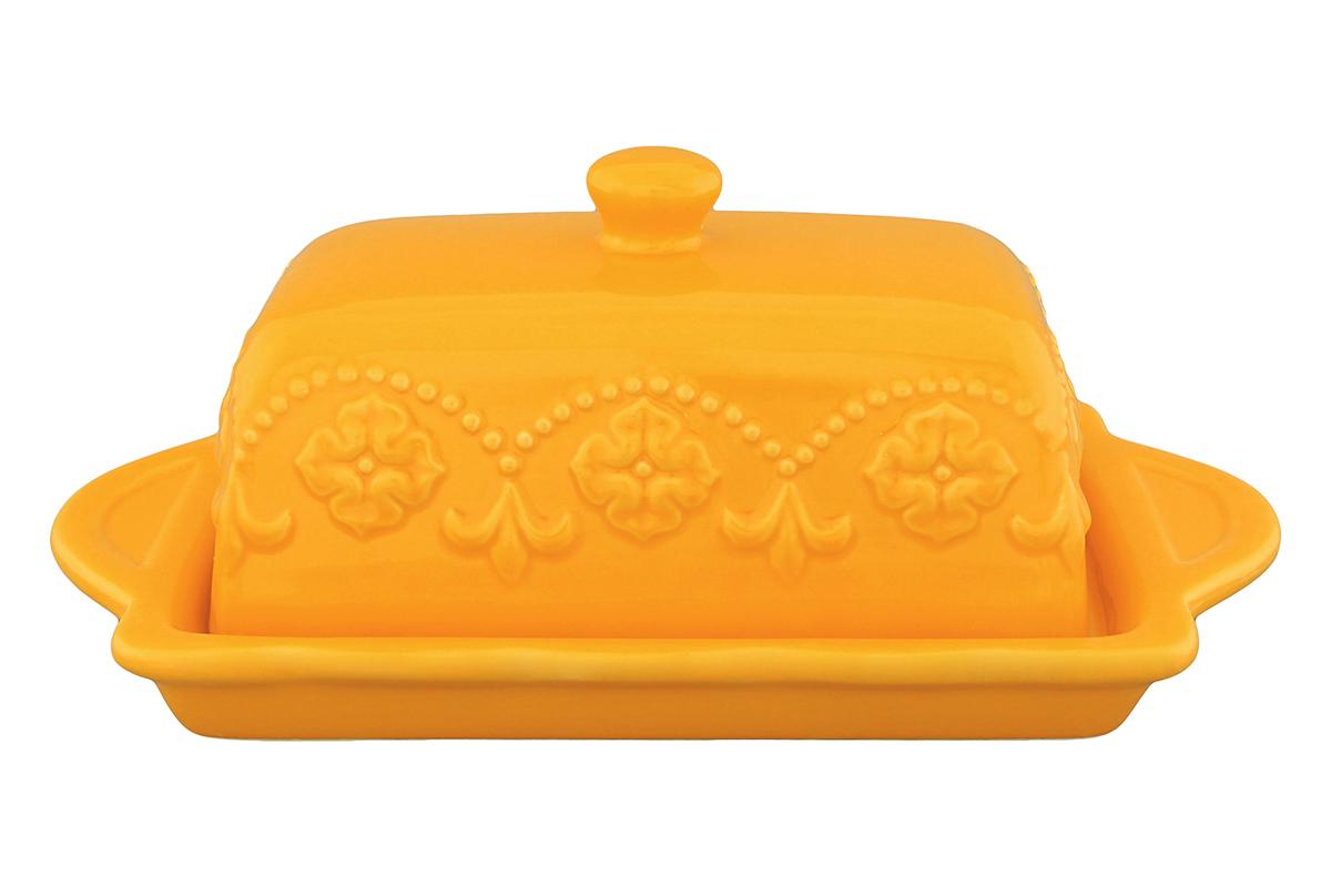 Масленка Elan Gallery Узор, цвет: оранжевый830054Великолепная масленка Elan Gallery Узор, выполненная из высококачественной керамики и декорированная рельефным узором, предназначена для красивой сервировки и хранения масла. Она состоит из подноса и крышки. Масло в ней долго остается свежим, а при хранении в холодильнике не впитывает посторонние запахи. Масленка Elan Gallery Узор идеально подойдет для сервировки стола и станет отличным подарком к любому празднику. Не рекомендуется применять абразивные моющие средства. Не использовать в микроволновой печи. Размер подноса: 19,5 х 11 х 2 см. Размер крышки: 13,5 х 7 х 8 см.