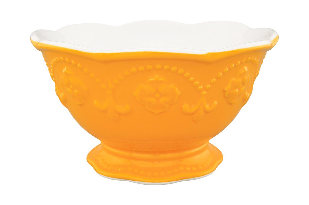 Салатник Elan Gallery Узор, цвет: оранжевый, белый, 600 мл830064Великолепный круглый салатник Elan Gallery Узор, изготовленный из высококачественной керамики, прекрасно подойдет для подачи различных блюд: закусок, салатов или фруктов. Такой салатник украсит ваш праздничный или обеденный стол, а оригинальное исполнение понравится любой хозяйке. Не рекомендуется применять абразивные моющие средства. Не использовать в микроволновой печи. Диаметр салатника (по верхнему краю): 15,5 см.
