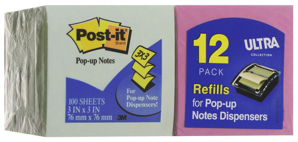 Post-it Бумага для заметок с липким слоем 1200 листов цвет салатовый сиреневый