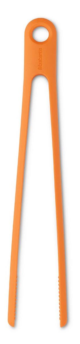 Щипцы кухонные Brabantia Tasty colours, цвет: оранжевый108440Кухонные щипцы Brabantia Tasty colours помогут вам быстро и удобно перевернуть на сковороде или решетке мясо, рыбу или овощи, не разрушая текстуру аппетитных кусочков. И, конечно, без них не обойтись на пикнике. Стильные и практичные щипцы солнечно-оранжевого цвета изготовлены из жаропрочного силикона и удобно подвешиваются в любом месте на кухне. Для удобства хранения изделие имеет петельку для подвешивания на крючок. Можно мыть в посудомоечной машине. Входят в новую серию Brabantia - Tasty Colours – красочное решение для выполнения любой кулинарной задачи! Добавьте цвета и настроения в интерьер своей кухни с коллекцией Brabantia - Tasty Tools, предлагающей полный набор кухонных принадлежностей отменного качества в самых современных аппетитных оттенках. 5 лет гарантии Brabantia.