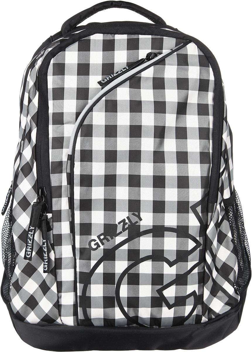 Рюкзак женский Grizzly, цвет: черный, серый, 28 л. RD-640-2/3