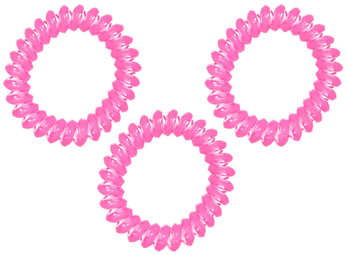 Резинка-браслет для волос Mitya Veselkov, цвет: фуксия, 3 шт. REZ1