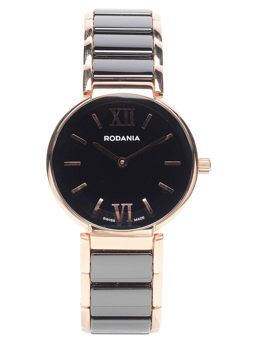 Наручные часы женские Rodania, цвет: золотистый, черный. 25062442506244Оригинальные и качественные часы Rodania
