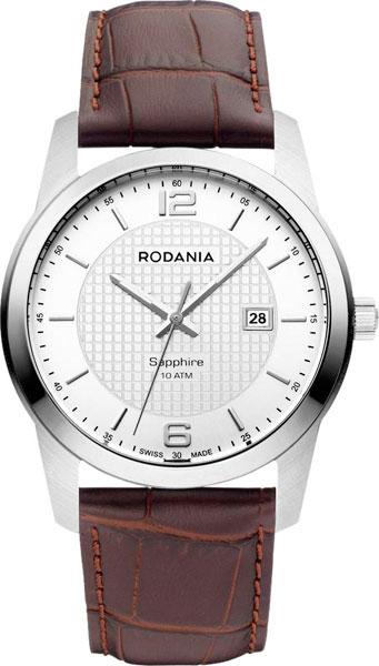 Наручные часы мужские Rodania, цвет: серый металлик, коричневый. 25038212503821Оригинальные и качественные часы Rodania